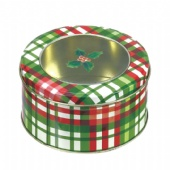 window round chocolate tin box for Christmas