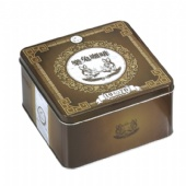 square Chocolate Tin Box with lid