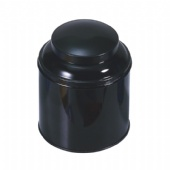 round airtight coffee tin box with domed lid