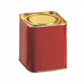 lever lid top square coffee tin box