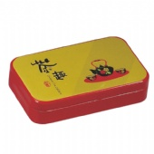rectangular candy tin box with plus lid