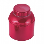 big Round tea tin box with dome lid
