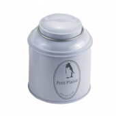 round tea tin box with curve lid