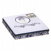 Square Christmas gift packaging tin box