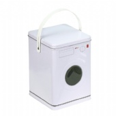 washing machine shaped tin box
