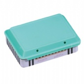 rectangular tin box with Push and pull plastic lid