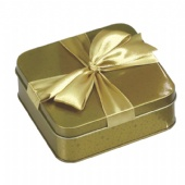 Decorative Rectangular Biscuit Tin with Lid