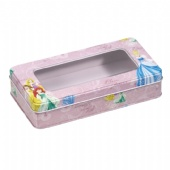 metal box with clear lid