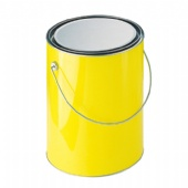 PET bucket with tin lid and bottom