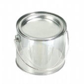 Clear Pail With Tin Lid
