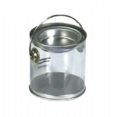 Clear Pail With Tin Lid and bottom