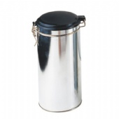 round coffee tin box