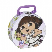 Dora the Explorer lock tin box