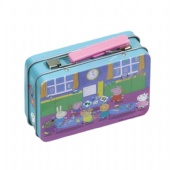 cosmetic tin box with handle