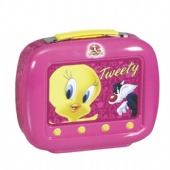 cosmetic tin box with TV shape