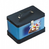 rectangular Lunch tin box with handle