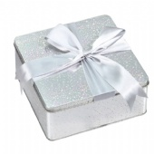 square gift packaging tin box
