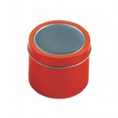 candle tin box with window