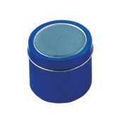 small candle tin box with window
