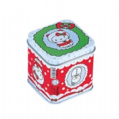 small square candle tin box with lid