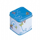 small square candle tin box