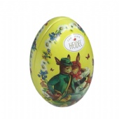 Easter egg shaped candy tin box