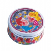 round cookies tin box packaging