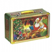 Tin gift packages with handle