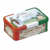rectangular Spice Tin Box with hinged Lid