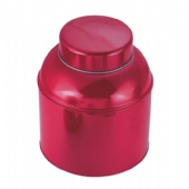 big tea tin box with domed lid