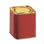 small square tea tin box with airproof lid