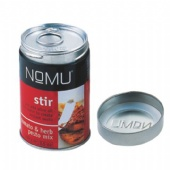 round Spice Tin Box with ease open end