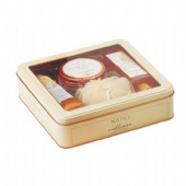 square Cosmetic tin box with window
