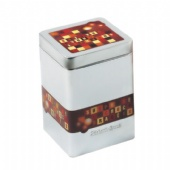 square Spice Tin Box with necked-in bod