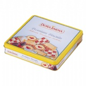 Square Biscuit Candy Tin Box