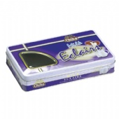 Rectangular Cookie Tin Box with window lid