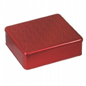 Rectangular Cookie Tin Box with embossed lid