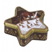 Star shaped Cookie Tin Box