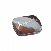 Oval Shaped Tin Box With Printing Embossing