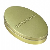 Oval Small Gift Packaging Tin Box Storage Containers Promotions With 3d Embossing