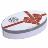 Wedding Holiday Cake Tin Box Oval Shaped For Chocolate Packaging