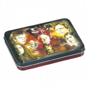 3d Embossed Metal Rectangular Tin Box With Hinged Lid