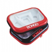 big Cosmetic Rectangular Tin Box with window and zipper