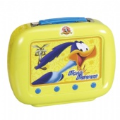 Novelty Rectangular Tin Box Lunch Box With Plastic Handle Rectangular Tin Containers