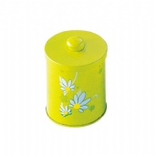 Luxury Biscuit Round Biscuit Tin Box With handle Lid Printed Metal Tin Container