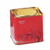 Durable Empty Christmas Halloween Square Cookie Tin Box With Press Lid