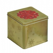 Customized Square Printed Cookie Tin box with Embossing