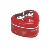 mini heart pill tin box