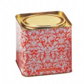 Metal Square Plain Silver Tea Tin Containers Packaging With Inner Lid