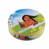 Round Gift Tin Box Shampoo And Face Care Lip Balm Packaging